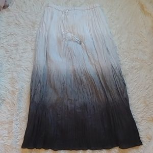 White House Black Market Silk Maxi Skirt
